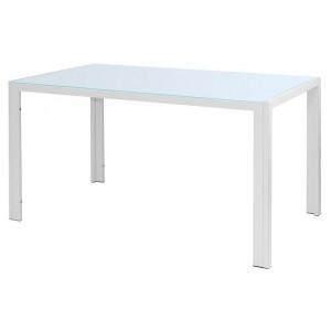 Стол белый 160х90 (стекло)