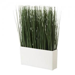 Искусственное растение в кашпо трава 43 см
