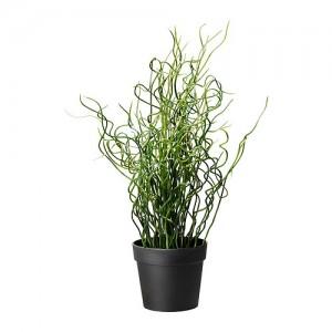 Искусственное растение в горшке Ситник Спиральный 40 см