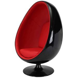 Кресло Egg чёрное