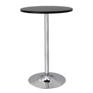 Стол барный (чёрный) d 70 cm. Хром