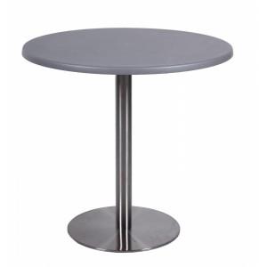 Стол серый d-90