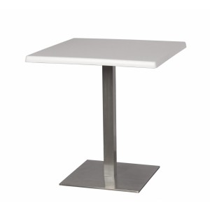 Стол квадратный белый