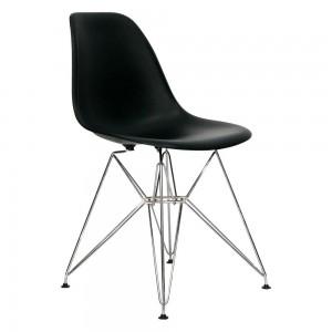 Стул Eames чёрный (хром)